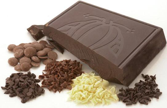 Chocolate puro e fracionado